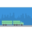 Container truck with blue backgrounds vector image vector image