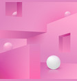 corner wall abstract scene with podium vector image