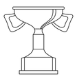 Cup for victory icon outline style vector image vector image