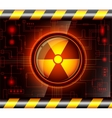 Danger button with the sign of radiation vector image