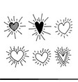 different graphic hearts design vector image vector image