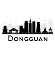 Dongguan City skyline black and white silhouette vector image vector image