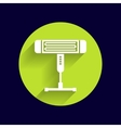 Electric heater light icon vector image vector image