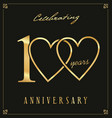 elegant black and gold anniversary background 100 vector image