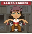 Fictional cartoon character - famed robber vector image vector image
