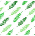 fir tree branch seamless pattern hand drawn vector image