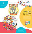 flat carnival circus template vector image