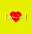 flat icon design collection heart with cardio in vector image vector image