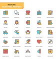 flat line healthcare and medical icons set vector image