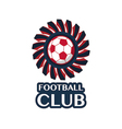 football Badge 5 vector image vector image