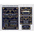 Gatsby Art Deco Wedding Invitation Design vector image vector image