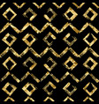 geometric hand drawn golden seamless pattern vector image