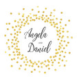gold circle wedding vector image vector image