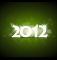 green new year card 2012 vector image vector image