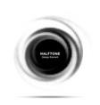 halftone dots circle frame logo emblem design vector image vector image