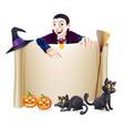 halloween dracula banner vector image vector image
