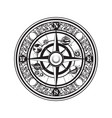 hand drawn vintage compass and planets of vector image vector image