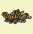 hip hop golden artistic custom old fashioned vector image vector image