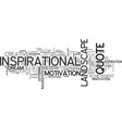 inspirational word cloud concept vector image vector image