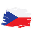 isolated czech flag vector image vector image