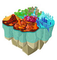 isometric game landscape concept vector image