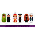 kuwait lebanon yemen men and women in national vector image vector image
