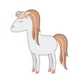 light colors of cartoon female horse with colorful vector image