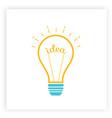 lightbulb creative idea and brainstorm concept vector image