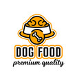 logo on the theme of food for dogs bowl full of vector image vector image