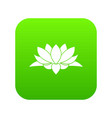 lotus flower icon digital green vector image vector image