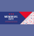 memorial day remember and honor banner vector image vector image