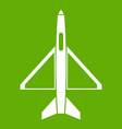 military aircraft icon green vector image vector image