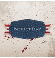 Patriot Day Text on Tag with Ribbon vector image vector image