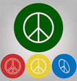 peace sign 4 white styles of vector image vector image