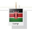 photo of kenya flag vector image