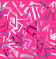 pink color geometric seamless pattern vector image vector image