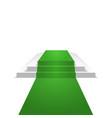 podium design element green carpet background vector image vector image