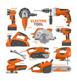 power tools electric construction equipment vector image vector image