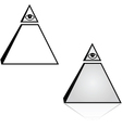 Pyramid with eye vector image vector image