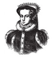 queen mary i the bloody vintage vector image
