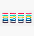 ribbons banners colorful in flat design ribbon vector image