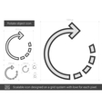 Rotate object line icon vector image vector image