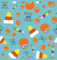 seamless pattern for halloween festival vector image vector image