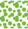 Seamless texture with clover of four leaves vector image