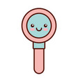 search magnifying glass kawaii style isolated icon vector image
