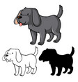 set dog cartoon vector image