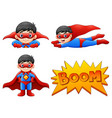 set of boy wearing superher vector image
