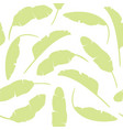 set of tropical leaves banana leaves isolated vector image vector image