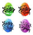 set of watercolor eggs vector image vector image