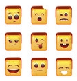 smiling emoticon face positive and negative icons vector image